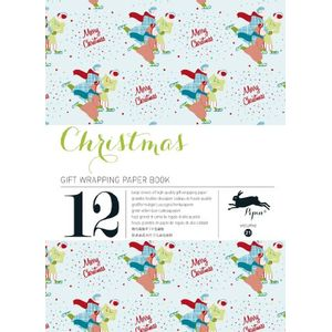 GIFT-WRAPPING-PAPER-BOOKS---CHRISTMAS-BLUE